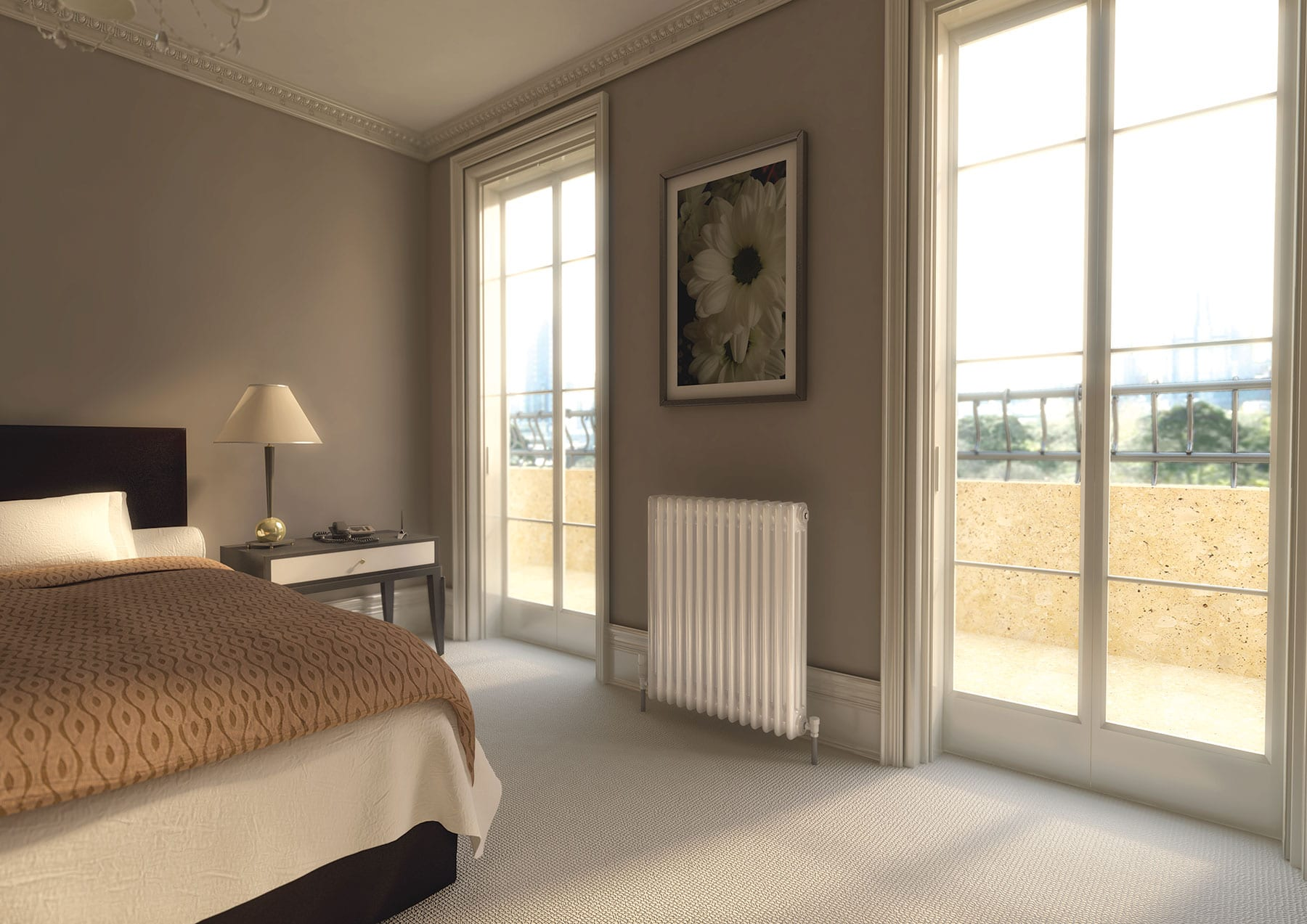 Designer radiators for living rooms - Classic Column Horizontal