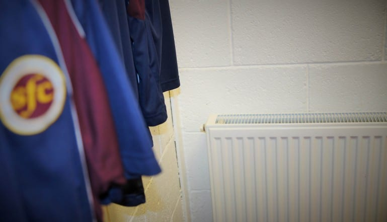 Stelrad Radical radiators being used in the Stenhousemuir FC changing rooms