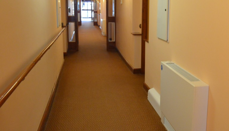 The main corridor leading to reception in the Care Home