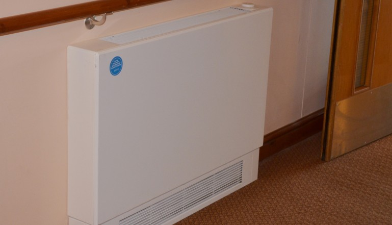 One of the more than eighty Stelrad LST radiators supplied to the project