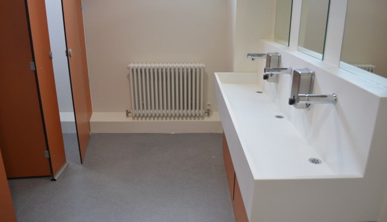 And the posh new loos at the Academy...