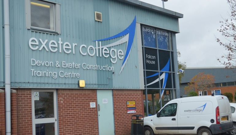 Exeter College's base close to the M5