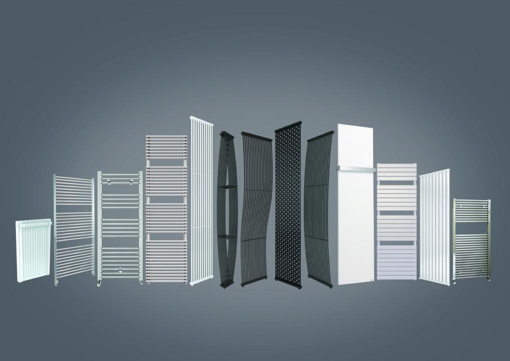 different Stelrad vertical radiators