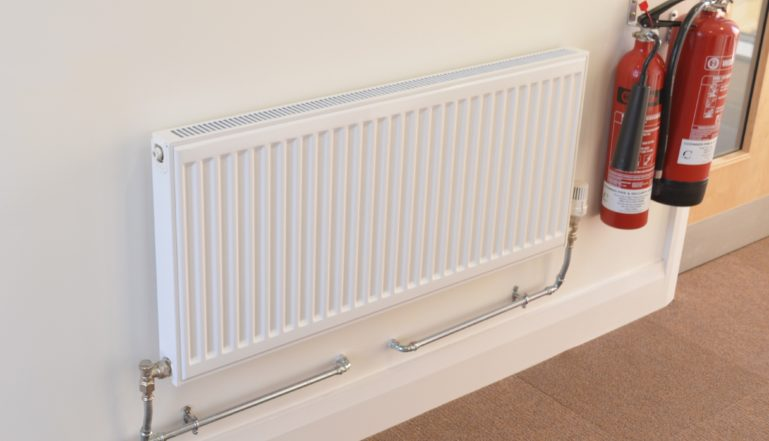 One of the radiators in the new stand at Somerset County Cricket Club