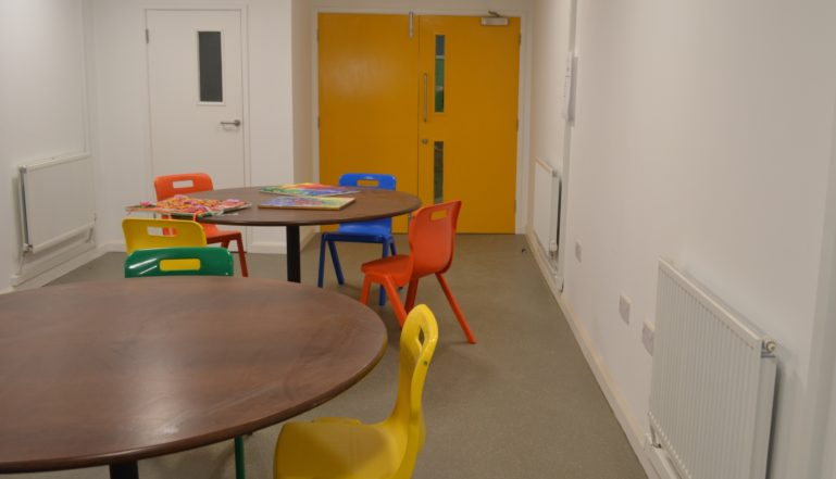 And  Stelrad radiators in one of the communal rooms at Burton Street centre.