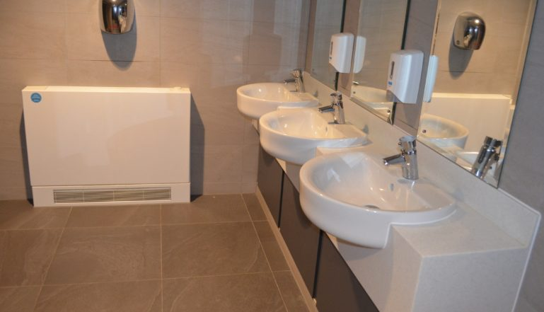 Stelrad LSTs have been installed in all the loos and changing rooms at Aberavon Leisure and Fitness Centre