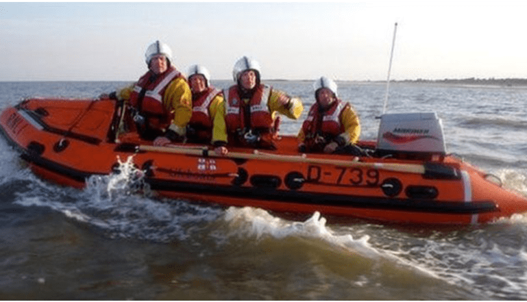 The Skegness Inshore lifeboat that was lost with the crew that made it back to shore..