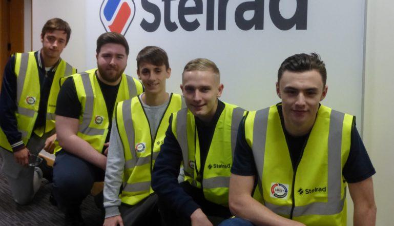 Stelrad's new apprentices, front to back: Kyle Davies, Harrison Smith, Tyler Friend, Matthew Scott & Arron Kelly.