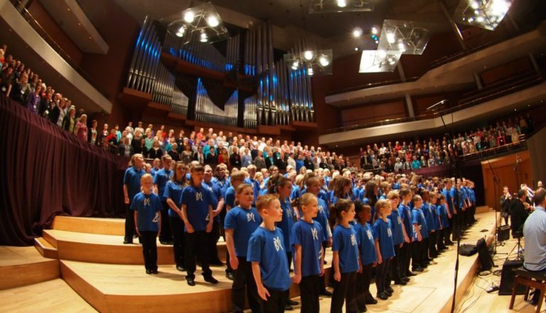The Barnsley Youth Choir in action