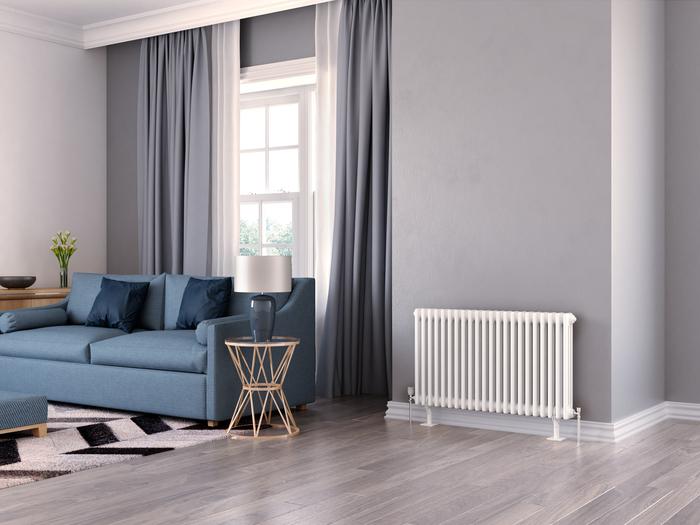 classic column radiator with feet