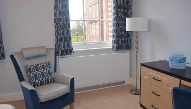 A Stelrad LSTi in one of the attractive rooms at the Care Village.
