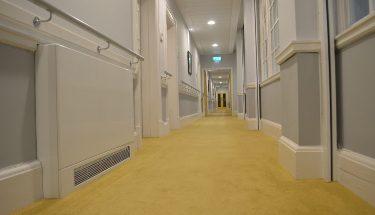 Stelrad LSTi's provide heat in the common areas of the building including the corridors.