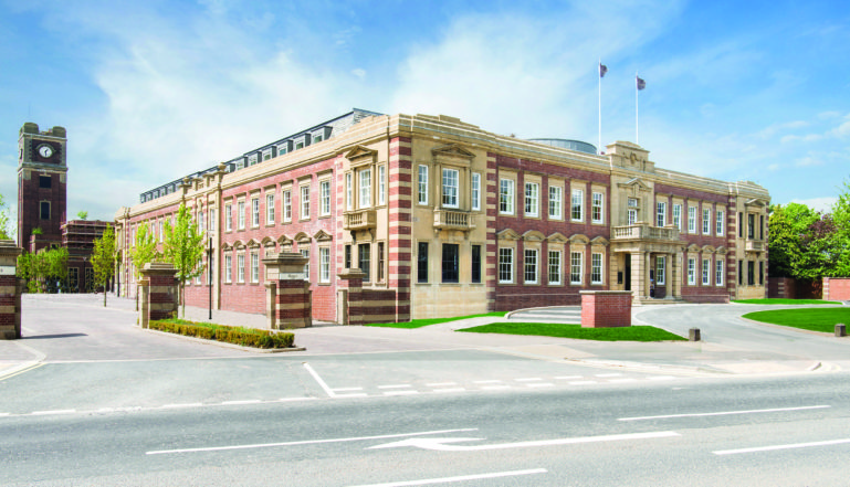 The impressive refurbished Chocolate Works Care Village is in the former Terry's Chocolate HQ building.