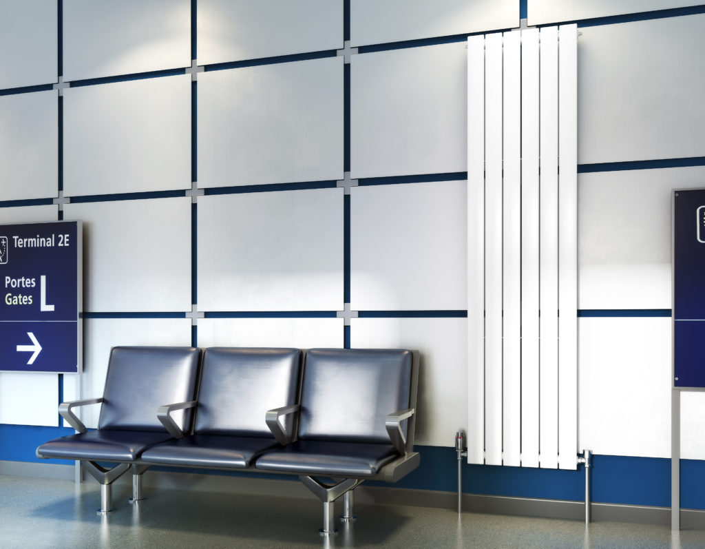Concord Vertical radiator in airport