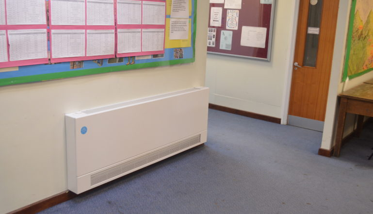 Stelrad LSTs in the main corridors at Fearnhill School
