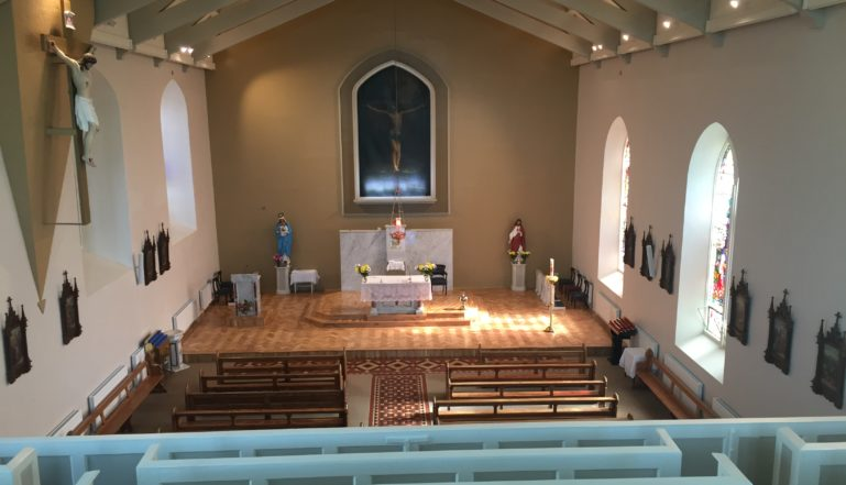 The renovation and refurbishment has transformed the church at Carrickbeg