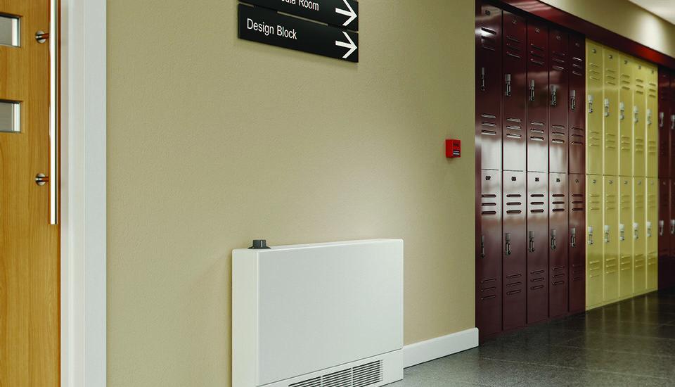 LST iPlus radiator in a school