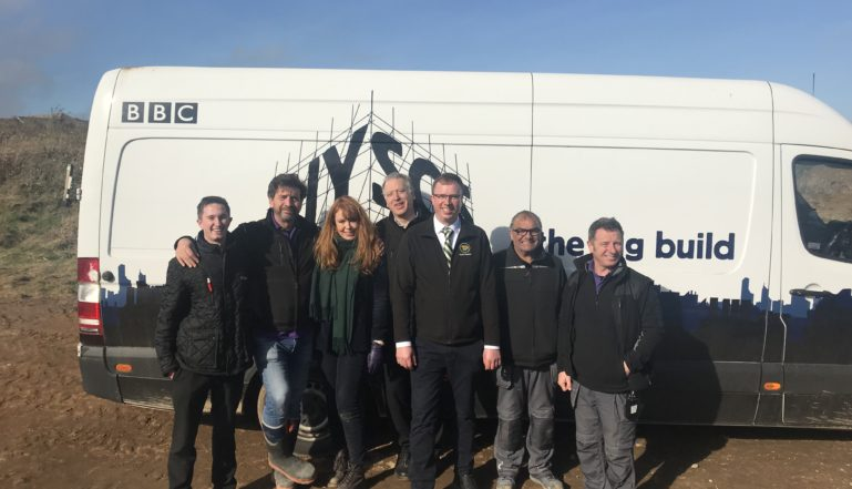 Stelrad's Steven Preston and the DIY SOS team at the reveal event