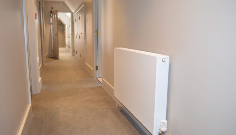 A Vita Plan in one of the corridors inthe boarding houses at Roedean.