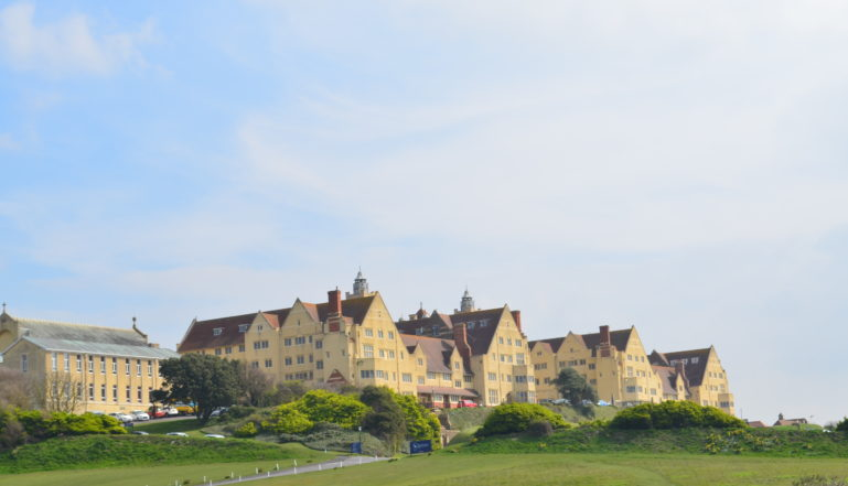 Roedean School sits high on the hill overlooking the English Channel, a stones throw from Brighton