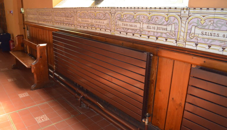Some of the new Stelrad radiators that now keep the cathedral warm