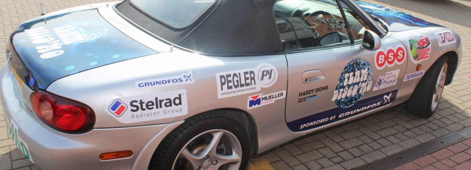 Stelrad decal on participating car in BSS Challenge 2018