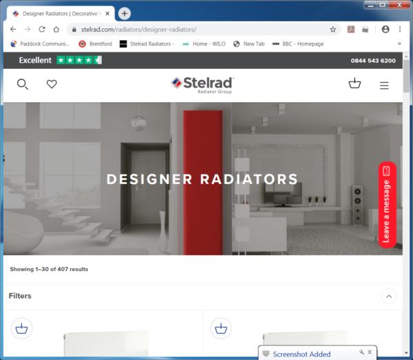 New stelrad radiators website