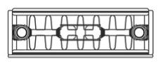K2 Vertical top line drawing of radiator